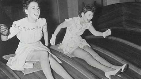 Sliding thrills at Luna Park in the 1950s.
