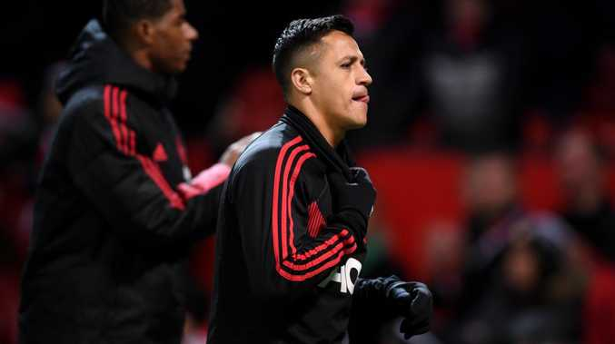 All is not well with Alexis Sanchez at Manchester United. Picture: Getty