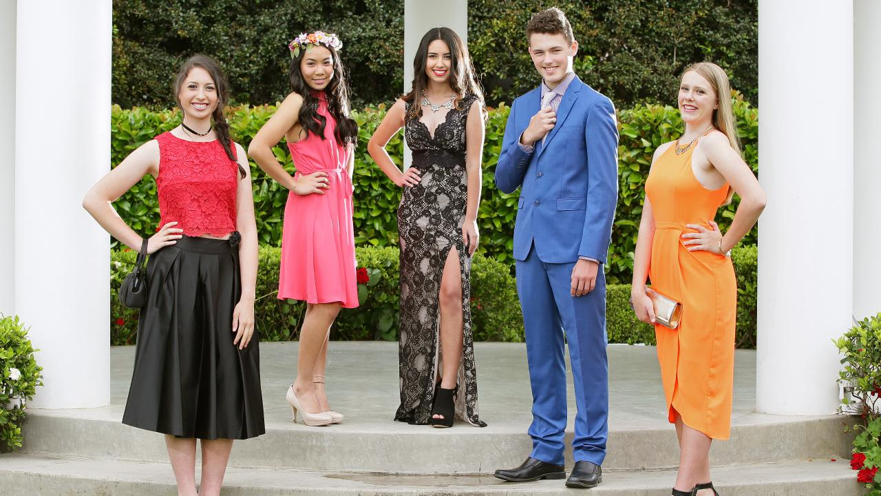 The peer pressure on teens to spend up big for their formals has grown. Picture: Troy Snook