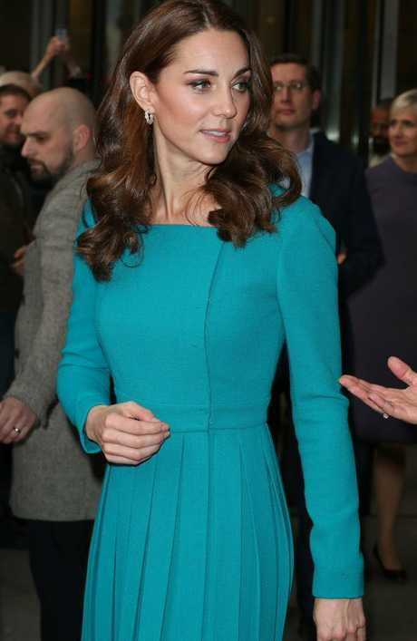 Catherine, Duchess of Cambridge, in one of her favourite dresses.  Picture:  Getty