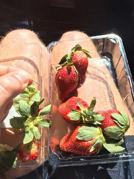 Allegedly spiked strawberries in a Facebook picture