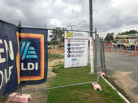 An ALDI supermarket site in Rockhampton was abandoned after the J.M. Kelly collapse.