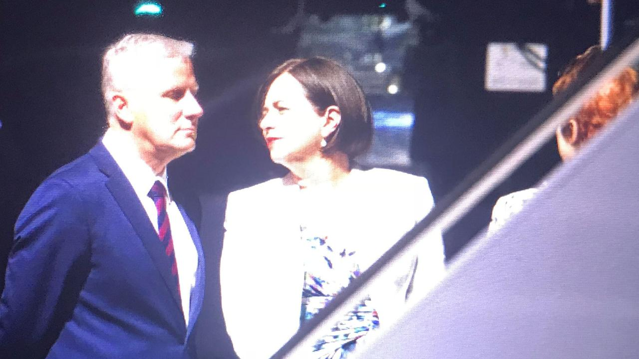US Vice President Mike Pence and his wife Karen arrive in Cairns. Picture: Stewart McLean