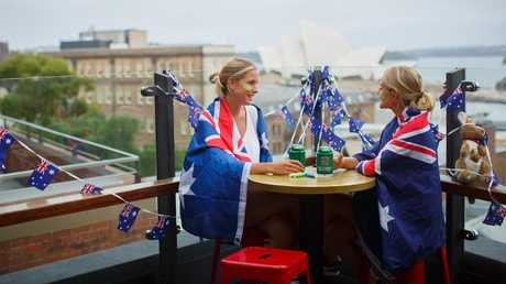 Tthe Glenmore Hotel in the Rocks got in the Australia Day swing this year.
