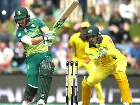 Faf du Plessis says the Aussies are a lot quieter now.
