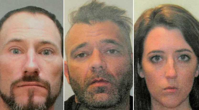 Johnny Bobbitt, Mark D'Amico and Kate McClure have been charged over their GoFundMe scam. Picture: Supplied