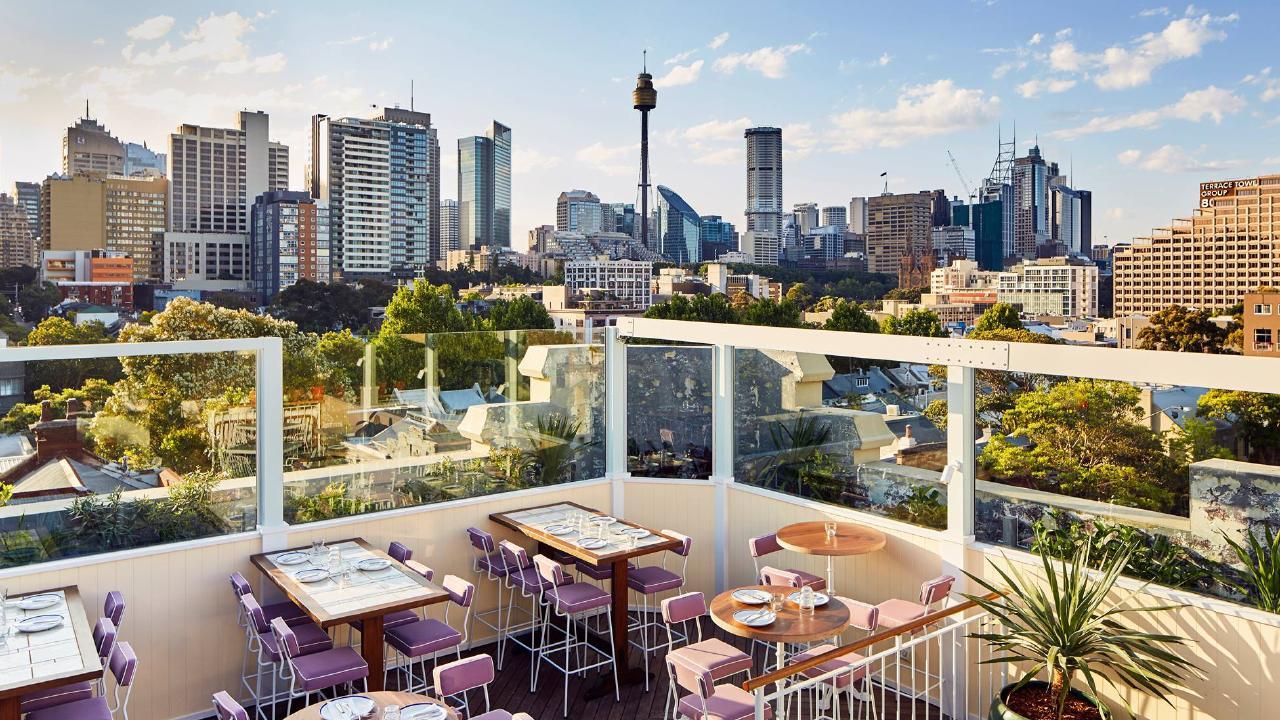 The Terrace Rooftop Bar sets the scene in East Village Hotel, Darlinghurst.