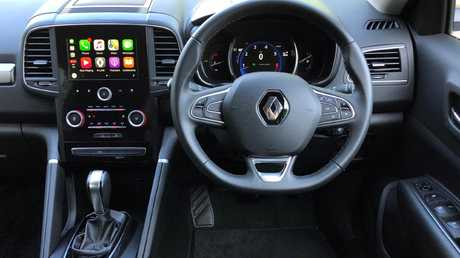 The Koleos has a tablet-style vertical touchscreen. Picture: Joshua Dowling.