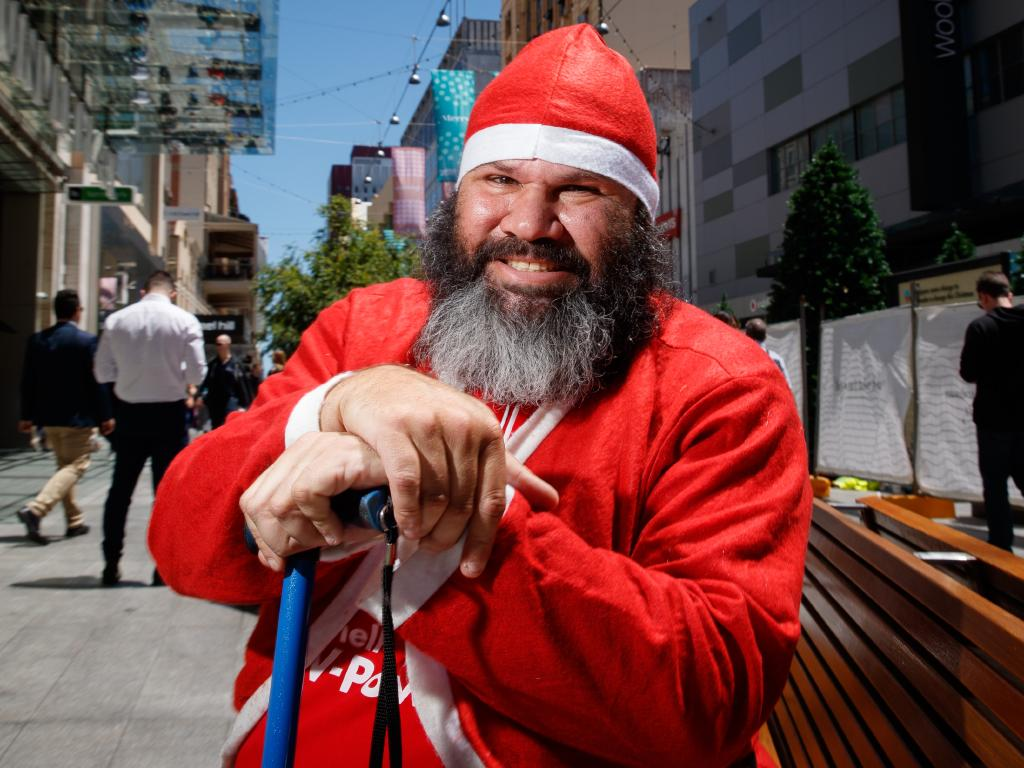 Arthur Butler's Christmas wish to be Father Christmas has come true. Picture: Matt Turner