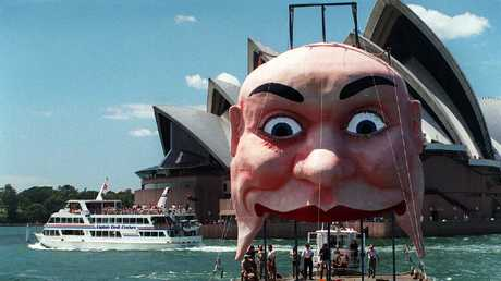 The face of Luna Park catches a ride during a 2001 re-fit.