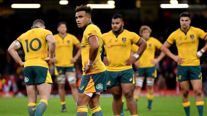 Will Genia of Australia looks dejected after the loss to Wales at Principality Stadium. Picture: Dan Mullan/Getty