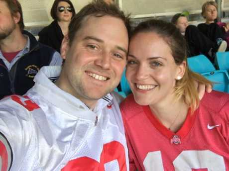 Andrew Simpson and Jessica McElhinney met via eHarmony. Picture: Supplied