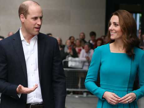 Prince William, Duke of Cambridge and Catherine, Duchess of Cambridge at BBC Broadcasting House. Picture: Getty