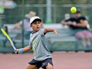 Jr Tennis at Chermside Road. FD Kestrels' Chris