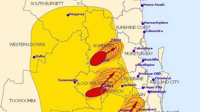 EXPLOSIVE: BoM warns of 'giant' hail, destructive winds
