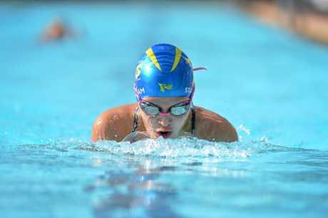 Gympie's Jasmine White Queensland under 11 freestyle champion.