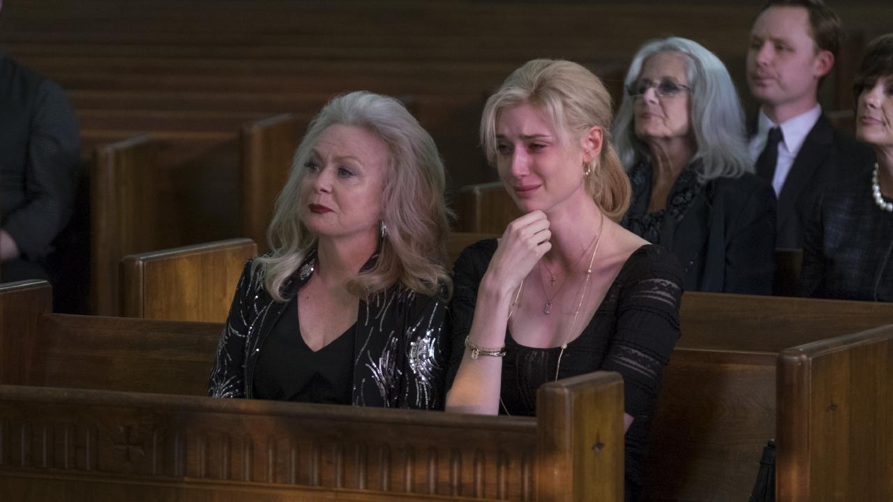 Jacki Weaver and Elizabeth Debicki in a scene from Widows.