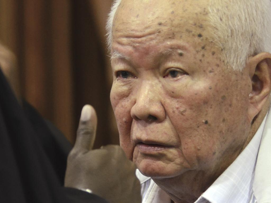 Khieu Samphan, former Khmer Rouge head of state, was also found guilty and sentenced to life. Picture AP