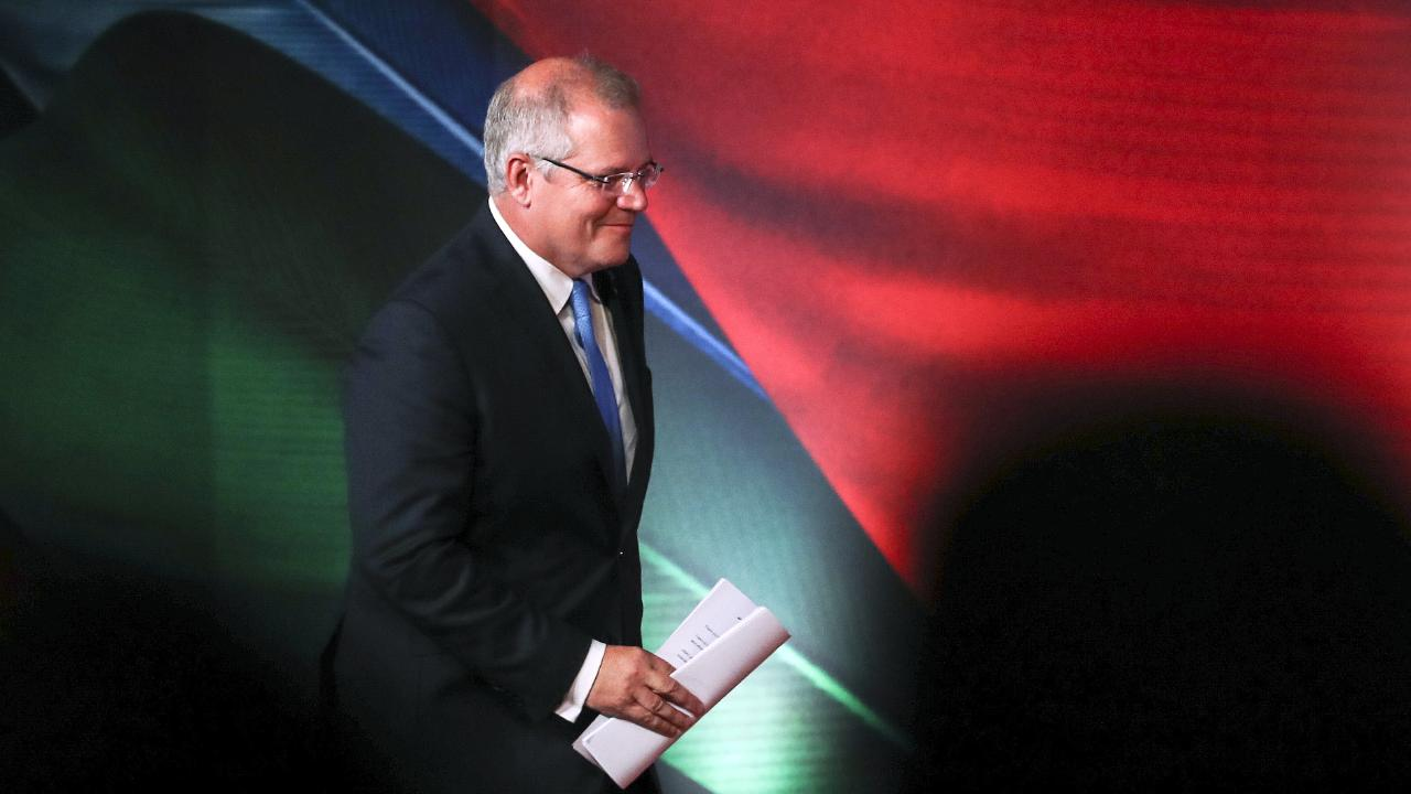 Australian Prime Minister Scott Morrison arrives for APEC CEO Summit 2018 in Port Moresby, Papua New Guinea. Picture: AP