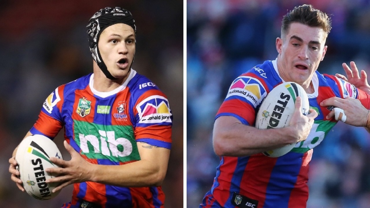 Newcastle Knights rising stars Kalyn Ponga and Connor Watson.