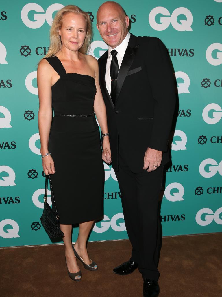 Matt Moran and wife Sarah. Picture: Richard Dobson
