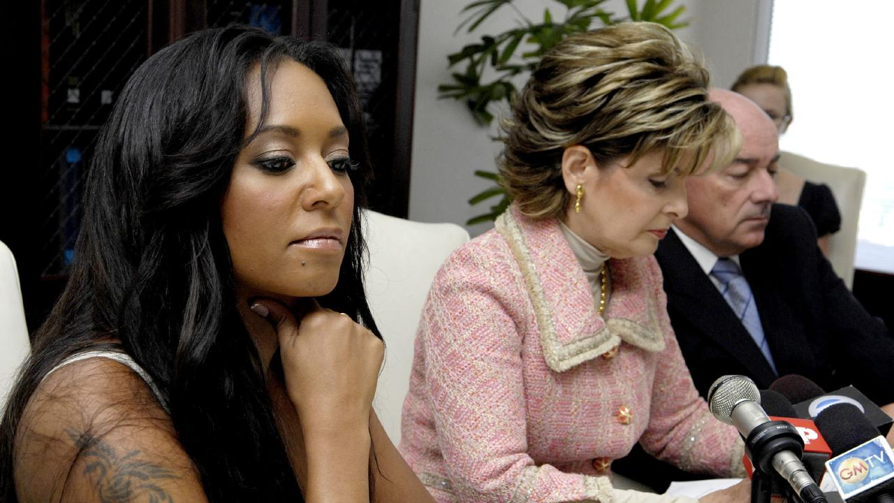 Mel B and her lawyer Gloria Allred hold a press conference announcing the filing of a paternity case against Eddie Murphy in 2007. Picture: Toby Canham
