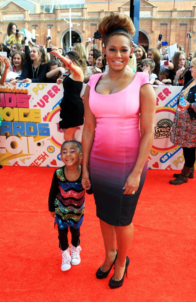 Mel B with her daughter Angel Iris from her relationship with Eddie at the 2011 Nickelodeon Kids' Choice Awards in Sydney.