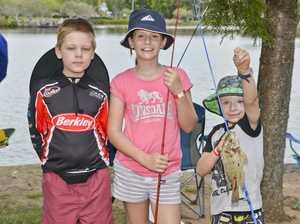 Springfield Lakes fishing day. Billy Harding, 8, Anna