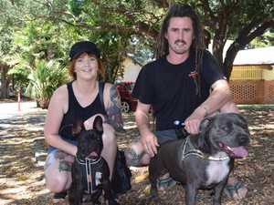 Niki Williams and Codie Tatterson with dogs Archie