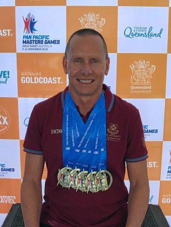 Brett Woods, from Karana Downs, dedicated his Pan Pacific Games wins to his mother, Sylvia Woods.