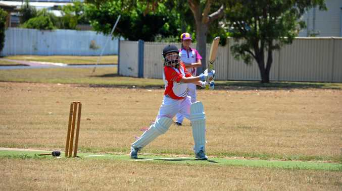 SCORE: Abbie-Jane Lord scoring runs for Kingaroy Swickers Suncorp Red at stage two cricket.