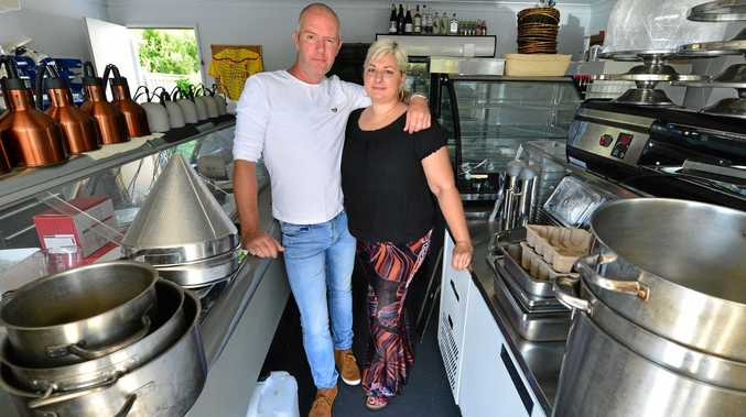 DISAPPOINTED: Matt Whittaker and Amara Bains were operating Pots and Pans restaurant in Peregian Springs before their hospitality dreams were shattered.