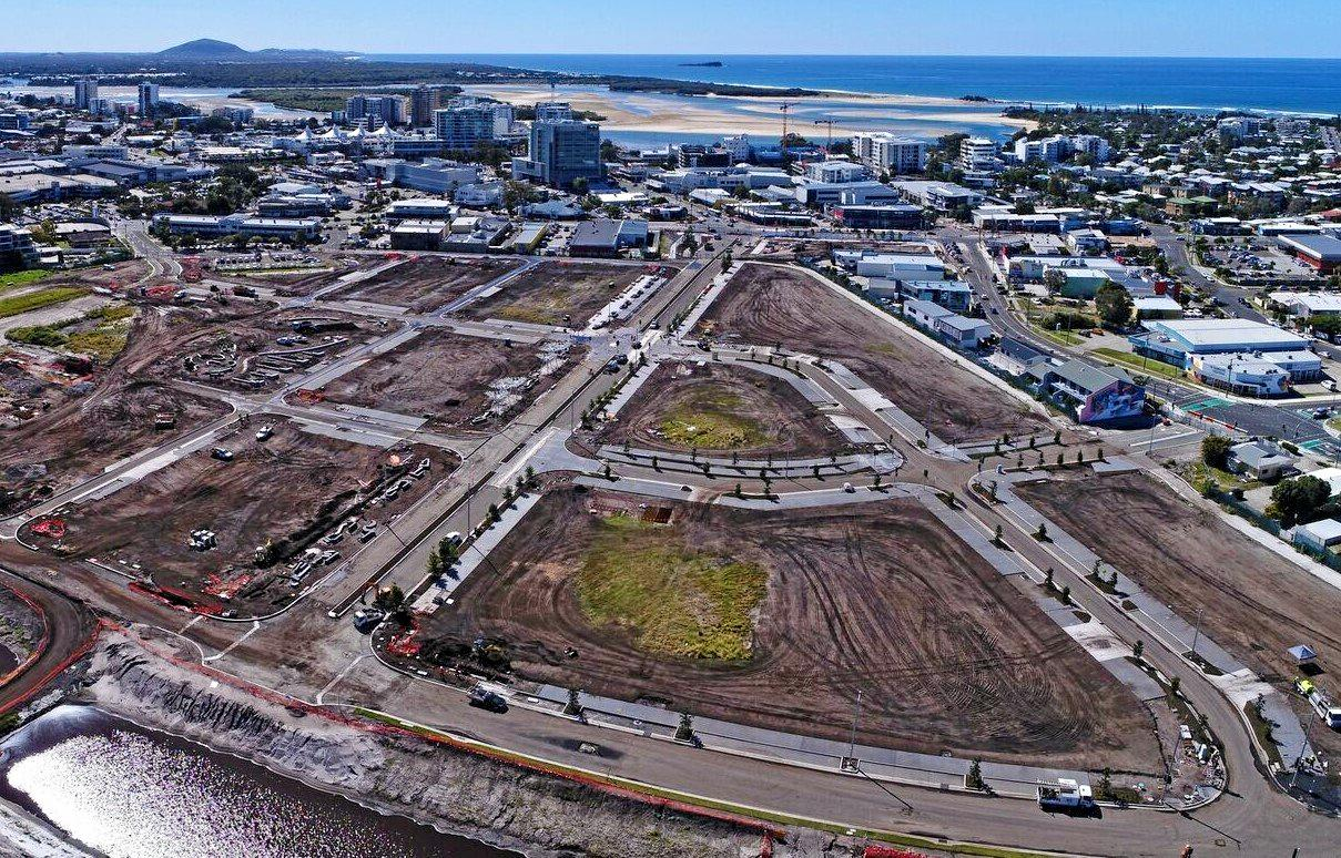 CHANGING: The site of the new Maroochydore CBD in September.