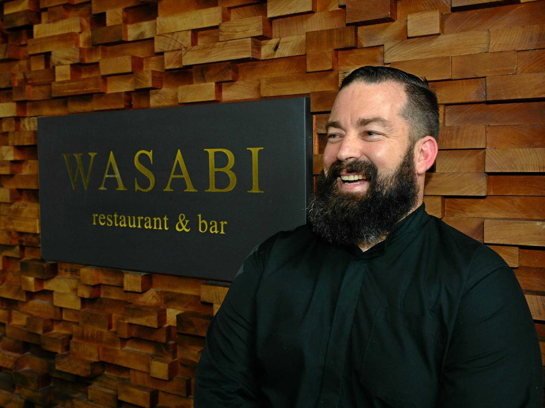 Co-owner and Executive chef of Wasabi Zeb Gilbert in Noosa Heads.