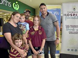 Toowoomba kids meet their Broncos hero