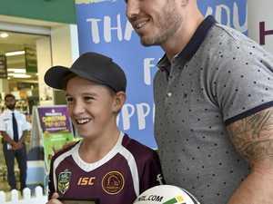 Toowoomba kids meet Broncos legend Darius Boyd