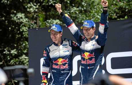 Sebastien Ogier and Julien Ingrassia celebrate a sixth FIA WRC title at Rally Australia.