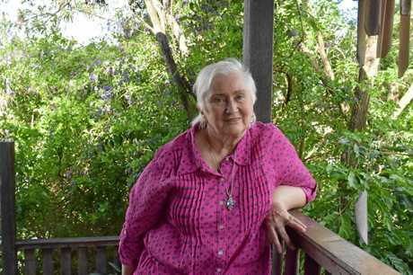 COAXED INTO BECOMING AN WRITER: Gympie author and former nursing sister Crystal Mary Lindsey enjoys every part of the process of writing.