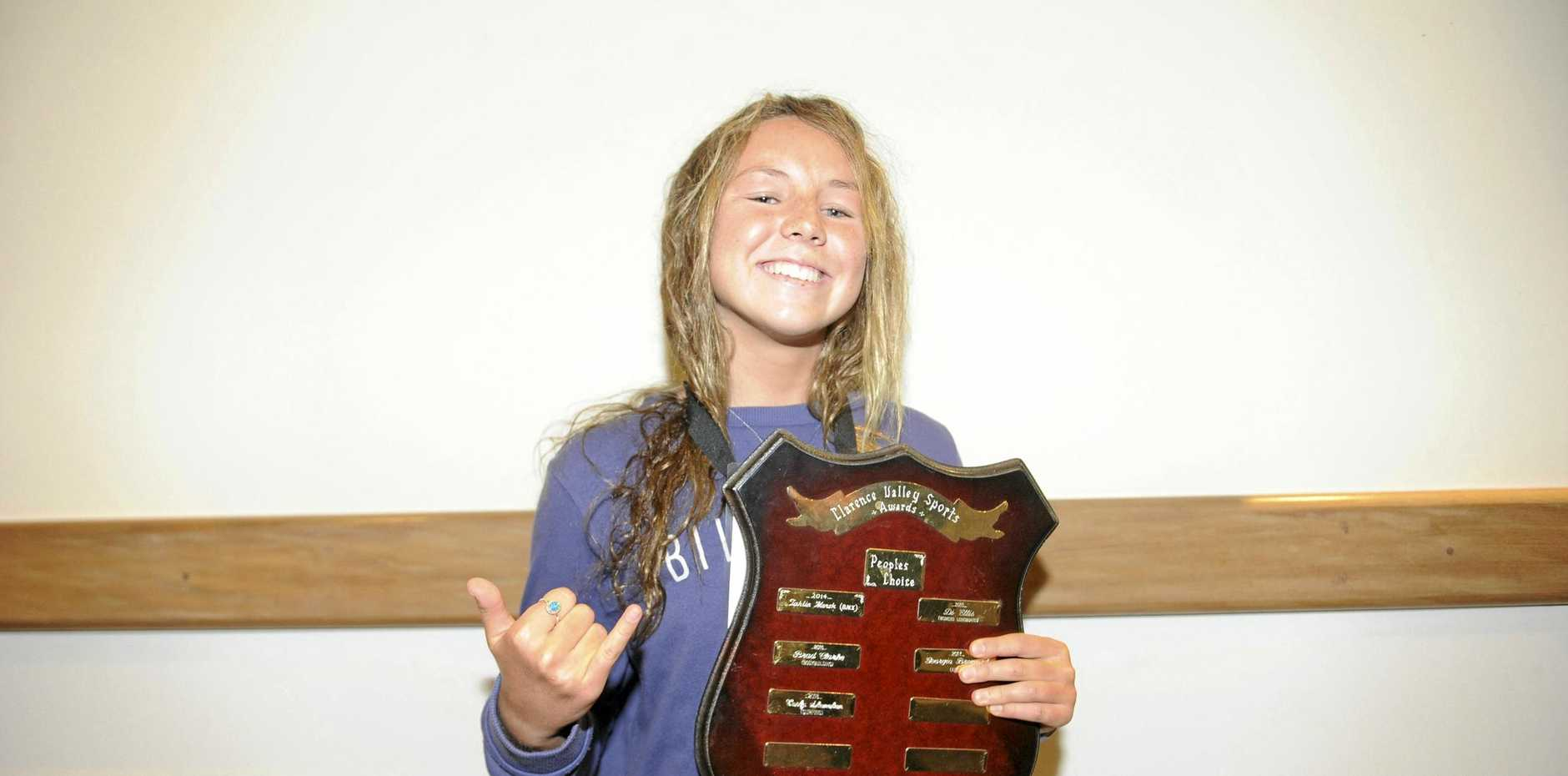 PEOPLE'S CHAMP: People's Choice award winner Carly Shanahan at the Clarence Valley Sports Awards.