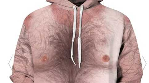 A body hair print jumper? Now I've seen it all