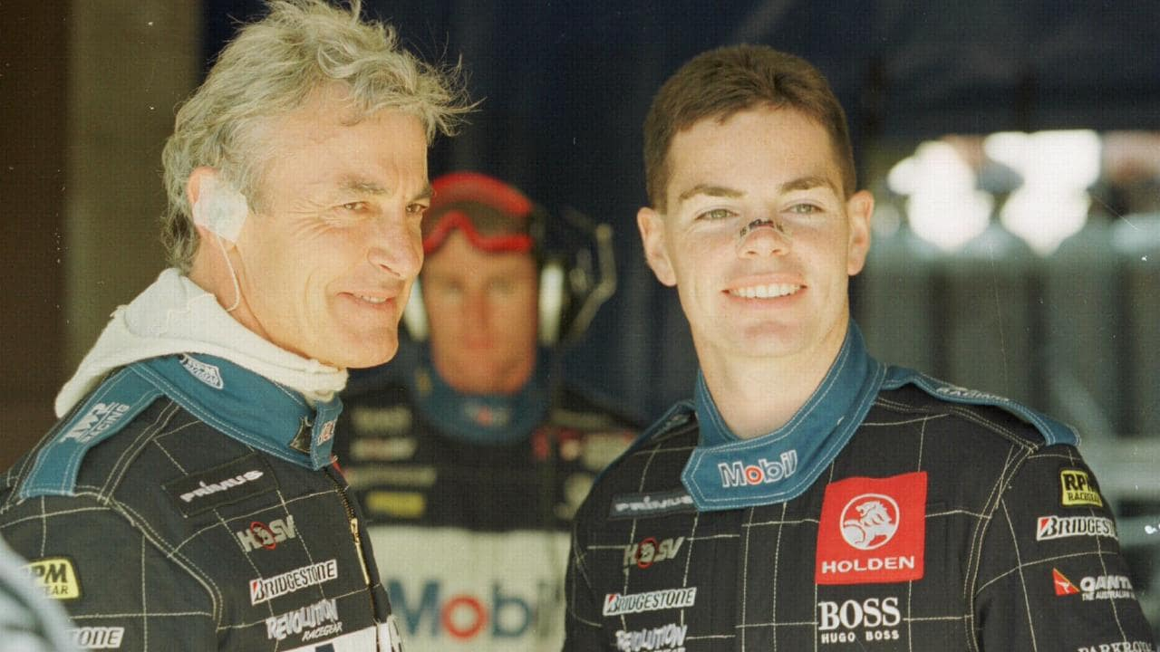 Lowndes with his hero Peter Brock.