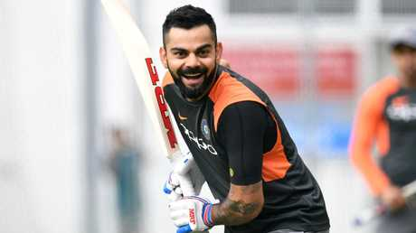 Virat Kohli is all smiles ahead of the tour opener against Australia.