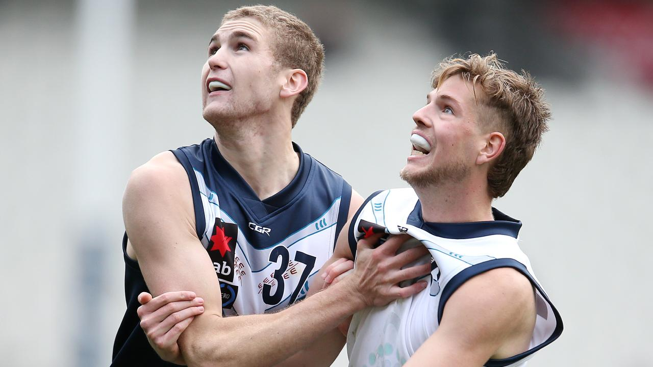 Riley Bowman (left) in action for Vic Country this year. Picture: Michael Klein