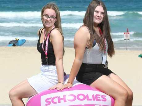 Stephanie Davidge 17 and Brooke Reynish 18. Picture Glenn Hampson