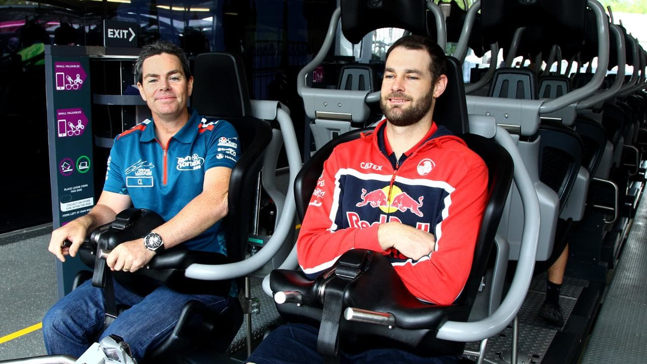 Craig Lowndes trails Shane Van Gisbergen in the Supercars championship.