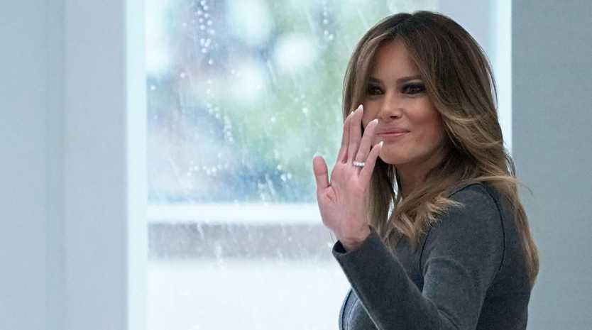 First Lady Melania Trump dropped six figures on hotels for a 12-hour trip to Canada last year. Picture: AFP