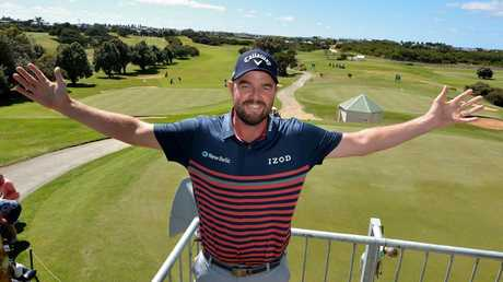 Marc Leishman was at home at the Warrnambool Golf Club. Picture: Robin Sharrock