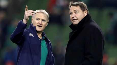 Ireland coach Joe Schmidt and All Blacks rival Steve Hansen.