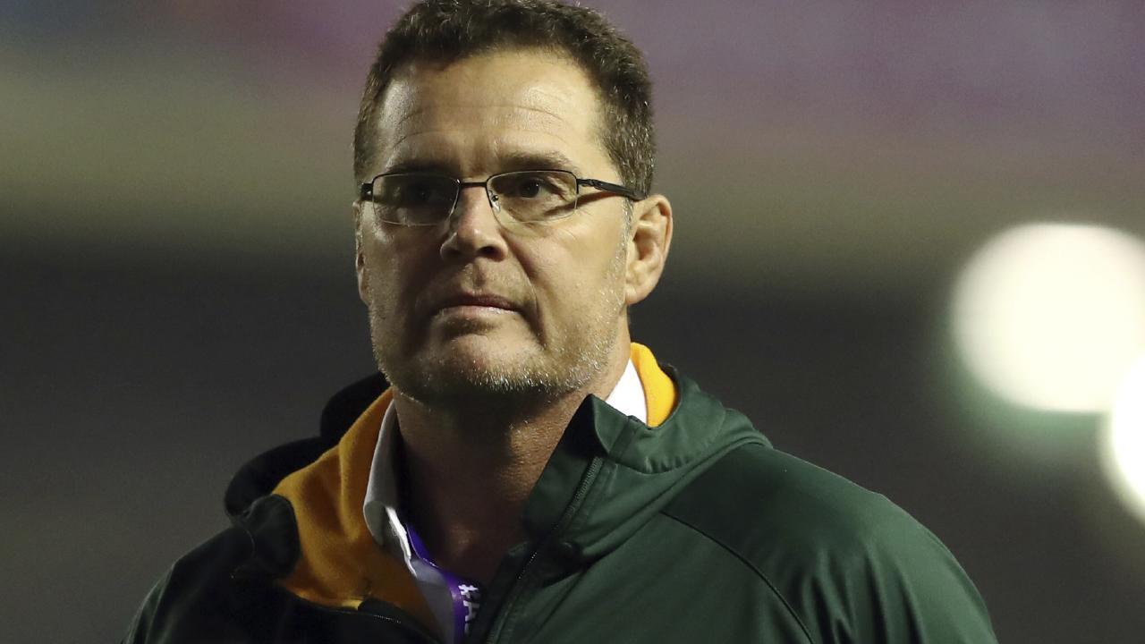 South Africa coach Rassie Erasmus at Murrayfield.