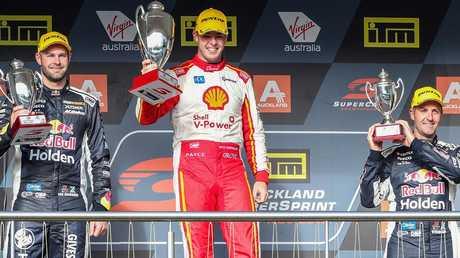 Scott McLaughlin wins in Pukekohe ahead of Shane van Gisbergen and Jamie Whincup.